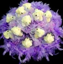 11 adet pelus ayicik buketi  Hatay 14 şubat sevgililer günü çiçek