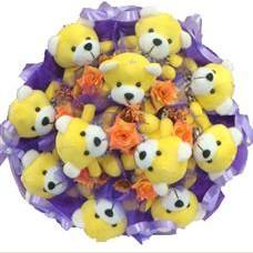 11 adet pelus ayicik buketi  Hatay ucuz çiçek gönder