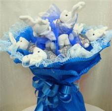 7 adet pelus ayicik buketi  Hatay 14 şubat sevgililer günü çiçek