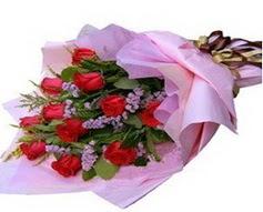 11 adet kirmizi güllerden görsel buket  Hatay çiçek siparişi vermek