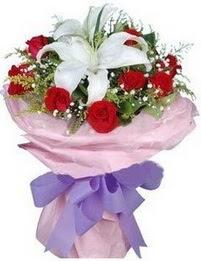 9 adet kirmizi gül 1 adet kazablanka buketi  Hatay çiçek online çiçek siparişi