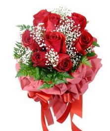 9 adet en kaliteli gülden kirmizi buket  Hatay çiçek , çiçekçi , çiçekçilik