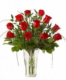 cam yada mika vazo içerisinde 9 kirmizi gül  Hatay çiçek servisi , çiçekçi adresleri