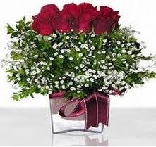 Hatay çiçek mağazası , çiçekçi adresleri  mika yada cam vazo içerisinde 7 adet gül