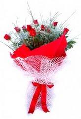 Hatay internetten çiçek siparişi  9 adet kirmizi gül buketi demeti
