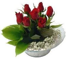 Hatay çiçek mağazası , çiçekçi adresleri  cam yada mika içerisinde 5 adet kirmizi gül