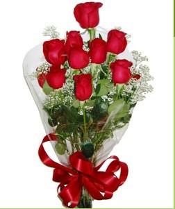 Hatay çiçek gönderme sitemiz güvenlidir  10 adet kırmızı gülden görsel buket