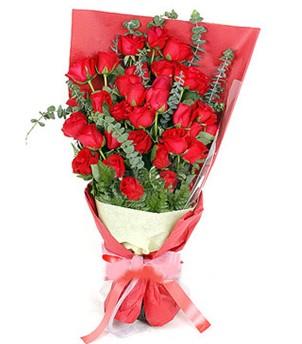 Hatay cicek , cicekci  37 adet kırmızı güllerden buket