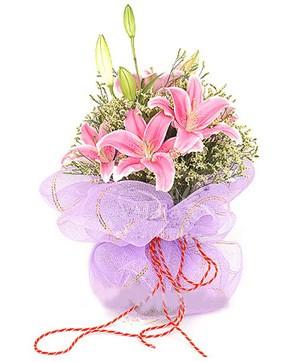 3 dal kazablanka görsel buketi  Hatay çiçek mağazası , çiçekçi adresleri