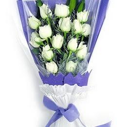 Hatay çiçek online çiçek siparişi  11 adet beyaz gül buket modeli