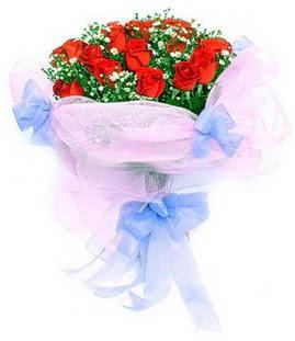 Hatay çiçek servisi , çiçekçi adresleri  11 adet kırmızı güllerden buket modeli