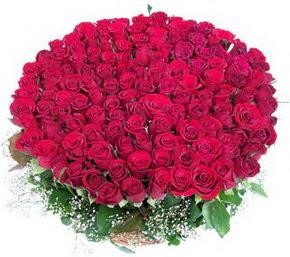 Hatay internetten çiçek satışı  100 adet kırmızı gülden görsel buket