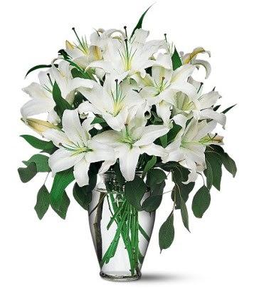 Hatay çiçek mağazası , çiçekçi adresleri  4 dal kazablanka ile görsel vazo tanzimi