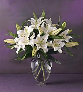 Hatay internetten çiçek siparişi  4 dal cazablanca vazo çiçeği