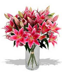 4 dal cazablanca görsel vazosu  Hatay çiçek online çiçek siparişi