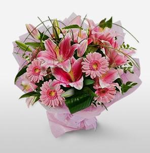 1 dal kazablanka ve kır çiçek görsel buketi  Hatay çiçek mağazası , çiçekçi adresleri