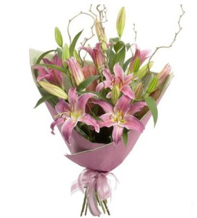 Hatay internetten çiçek siparişi  3 dal cazablanca buket çiçeği