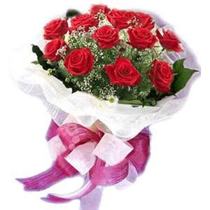 Hatay uluslararası çiçek gönderme  11 adet kırmızı güllerden buket modeli