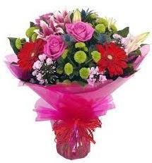 Karışık mevsim çiçekleri demeti  Hatay online çiçekçi , çiçek siparişi