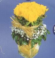 Hatay çiçek gönderme  Cam vazoda 9 Sari gül