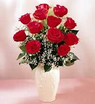 Hatay çiçek online çiçek siparişi  9 adet vazoda özel tanzim kirmizi gül
