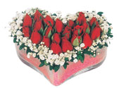 Hatay cicekciler , cicek siparisi  mika kalpte kirmizi güller 9