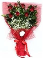 7 adet kırmızı gülden buket tanzimi  Hatay çiçek yolla , çiçek gönder , çiçekçi