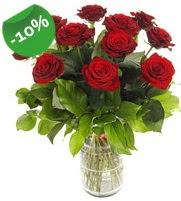 11 adet vazo içerisinde kırmızı gül  Hatay online çiçekçi , çiçek siparişi