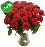 Vazo içerisinde 25 adet kırmızı gül  Hatay çiçek yolla , çiçek gönder , çiçekçi