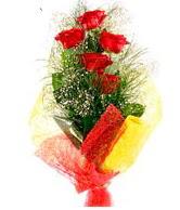 5 li kırmızı gül buketi  Hatay çiçek mağazası , çiçekçi adresleri