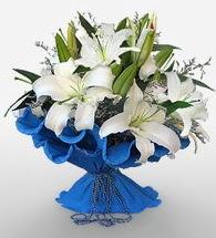 4 dal kazablanka çiçeğinden buket  Hatay çiçek yolla , çiçek gönder , çiçekçi