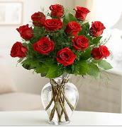 Vazo içerisinde 12 kırmızı gül  Hatay uluslararası çiçek gönderme