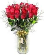 27 adet vazo içerisinde kırmızı gül  Hatay internetten çiçek siparişi