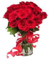 21 adet vazo içerisinde kırmızı gül  Hatay uluslararası çiçek gönderme