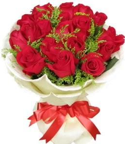 19 adet kırmızı gülden buket tanzimi  Hatay çiçek , çiçekçi , çiçekçilik