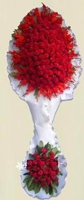 Çift katlı kıpkırmızı düğün açılış çiçeği  Hatay çiçek gönderme