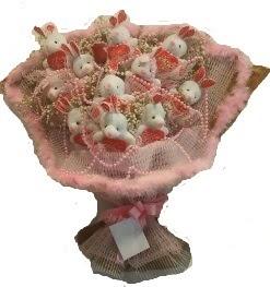 12 adet tavşan buketi  Hatay ucuz çiçek gönder