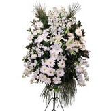 Hatay çiçek yolla , çiçek gönder , çiçekçi   Ferforje beyaz renkli kazablanka