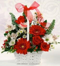 Karışık rengarenk mevsim çiçek sepeti  Hatay güvenli kaliteli hızlı çiçek
