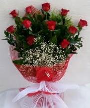 11 adet kırmızı gülden görsel çiçek  Hatay uluslararası çiçek gönderme