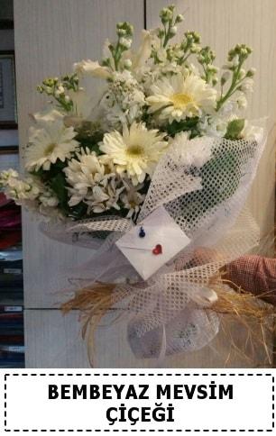 Bembeyaz görsel mevsim çiçek buketi  Hatay online çiçek gönderme sipariş