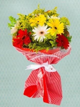 Karışık Gelbera Buketi  Hatay çiçek servisi , çiçekçi adresleri