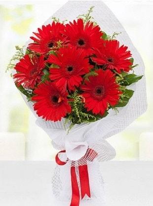 Kırmızı Gelbera Buketi  Hatay güvenli kaliteli hızlı çiçek