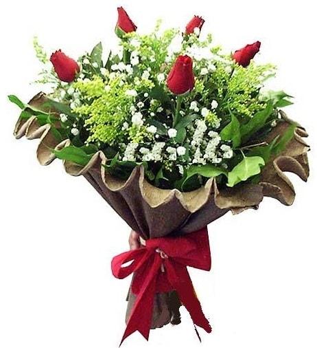 5 adet gülden buket  Hatay çiçek siparişi vermek