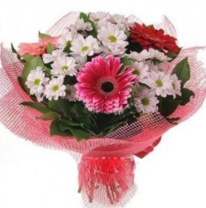 Gerbera ve kır çiçekleri buketi  Hatay güvenli kaliteli hızlı çiçek