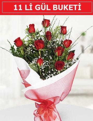 11 adet kırmızı gül buketi Aşk budur  Hatay çiçek siparişi vermek