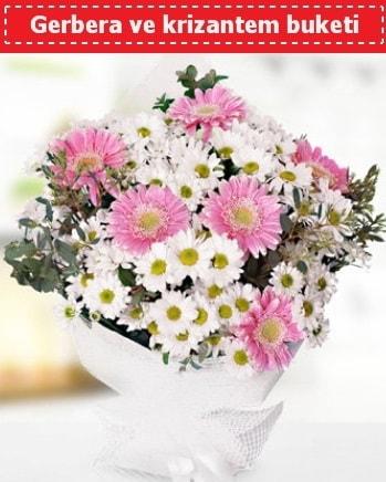 Papatya ve Gerbera Buketi  Hatay 14 şubat sevgililer günü çiçek