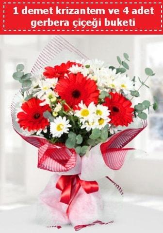 Krizantem ve Gerbera Buketi  Hatay çiçek servisi , çiçekçi adresleri