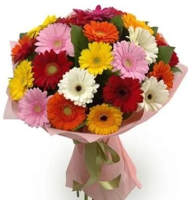 Karışık büyük boy gerbera çiçek buketi  Hatay uluslararası çiçek gönderme